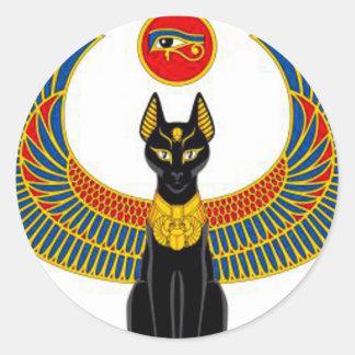 Egyptian Cat Classic Round Sticker