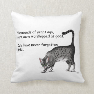 Egyptian Cat Throw Pillow