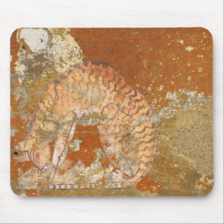 Egyptian Cat Tomb Painting Mouse Pad