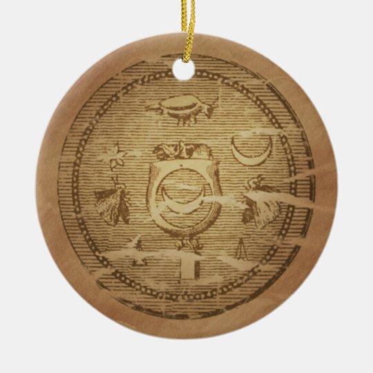 Egyptian Charm Against Annihilation Ceramic Ornament