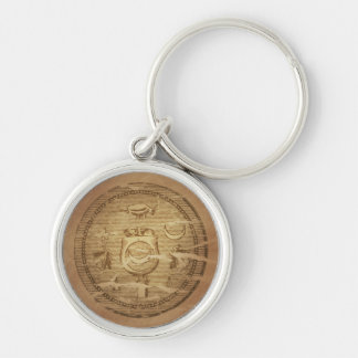 Egyptian Charm Against Annihilation Silver-Colored Round Keychain