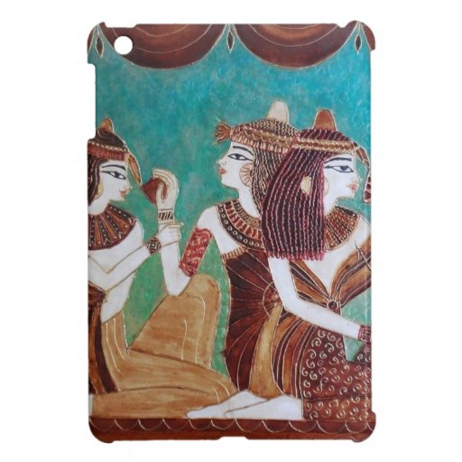 Egyptian coffee painting 3 ladies ipad mini case zazzle for Egyptian fresco mural painting