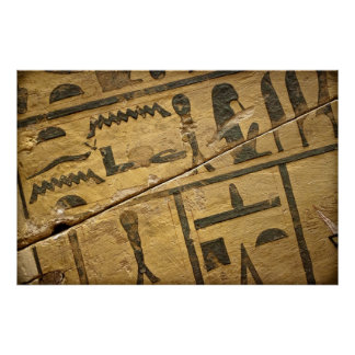 Egyptian Coffin Hieroglyphic Detail Poster