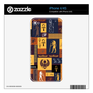 Egyptian Collage iPhone 4S Decals