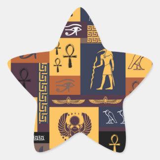 Egyptian Collage Star Sticker