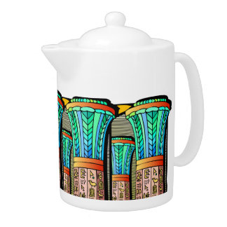 EGYPTIAN COLUMNS DECORATIVE  TEAPOT