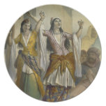 Egyptian Dancing Girls Performing the Ghawazi at R Dinner Plate