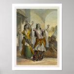 Egyptian Dancing Girls Performing the Ghawazi at R Poster