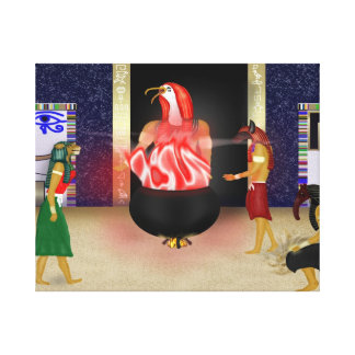 Egyptian Deities Watching Over Us Painting Canvas Print