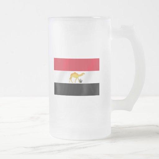 Egyptian desert camel soccer ball flag mugs