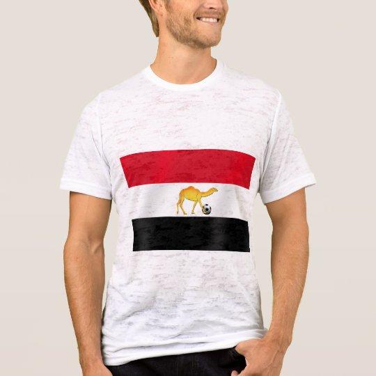 Egyptian desert camel world cup soccer ball flag T-Shirt
