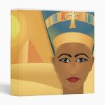 egyptian design notebook vinyl binder