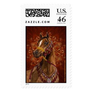Egyptian Dream Arabian horse large postage stamp
