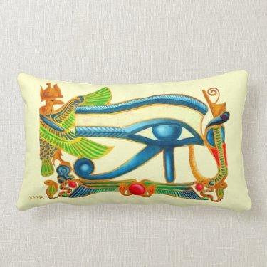 Egyptian Eye of Horus - Monogram Throw Pillow