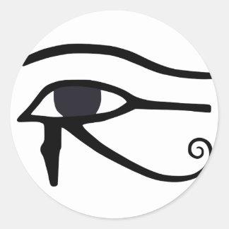EGYPTIAN EYE OF HORUS CLASSIC ROUND STICKER