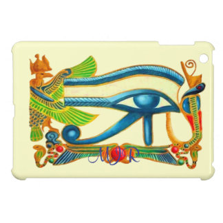 Egyptian Eye of Horus talisman with Monogram iPad Mini Case