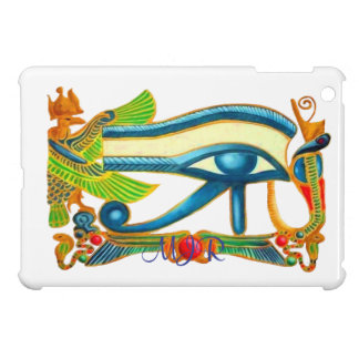 Egyptian Eye of Horus talisman with Monogram iPad Mini Cases