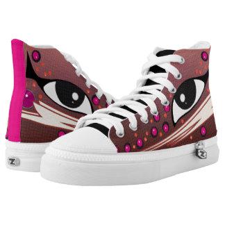 Egyptian Eye Zazzbolt in Rose Rust/Pink High-Top Sneakers