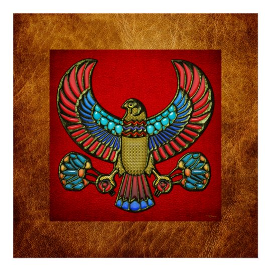 Egyptian Falcon Poster