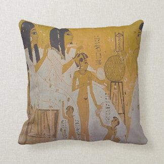Egyptian Family Throw Pillows