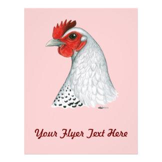 Egyptian Fayoumi Silver Hen Full Color Flyer