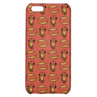 Egyptian Fish, Crocodile on Red iPhone 5c Case