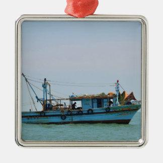 Egyptian Fishing Boat Metal Ornament