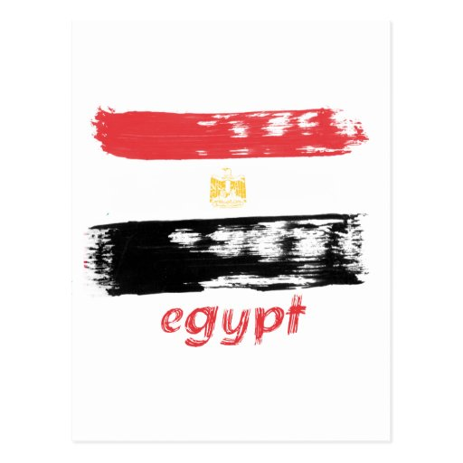 Egyptian flag design post cards
