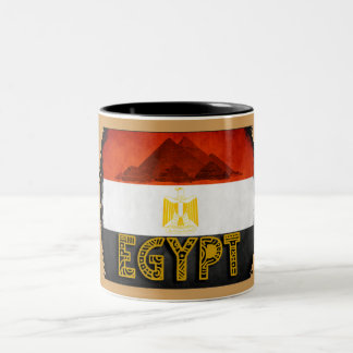 Egyptian Flag Two-Tone Coffee Mug