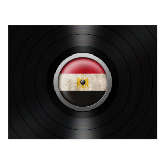 Egyptian Flag Vinyl Record Album Graphic Postcard