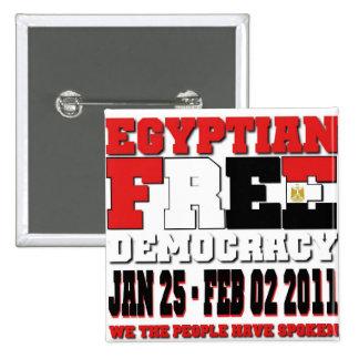 Egyptian Free Democracy Button