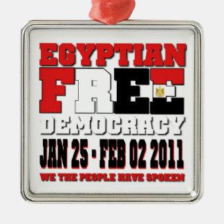 Egyptian Free Democracy Metal Ornament