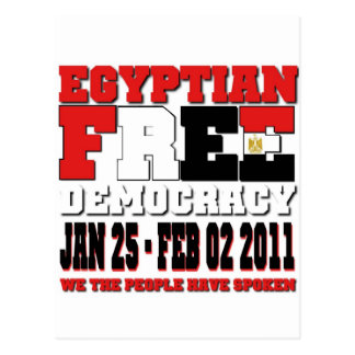 Egyptian Free Democracy Postcard