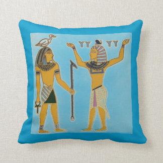Egyptian Geb & Shu Earth & Air Throw Pillow