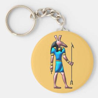 Egyptian God set egypt god Basic Round Button Keychain
