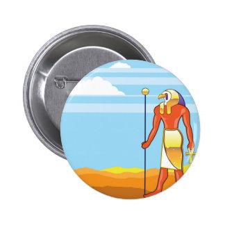 Egyptian God Vector Eagle Head Golden Vector Button