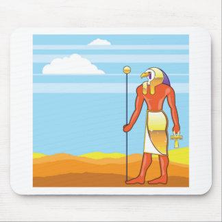 Egyptian God Vector Eagle Head Golden Vector Mouse Pad
