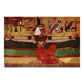 Egyptian Goddess Isis wall painting 1360 B.C. Poster