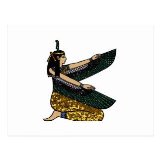egyptian goddess postcard
