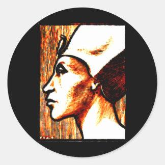 ~Egyptian Gods~ Akhnaton Classic Round Sticker