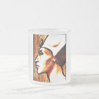 ~Egyptian Gods~ Akhnaton Frosted Glass Coffee Mug