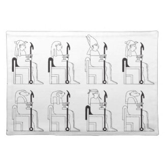 Egyptian Gods & Pharaohs at School Cloth Placemat
