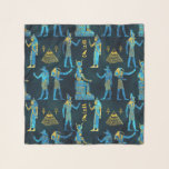 "Egyptian  Gold and blue glass pattern Scarf<br><div class=""desc"">Egyptian  Gold and blue glass pattern</div>"
