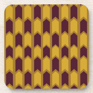 Egyptian Gold Panel Fence Drink Coaster