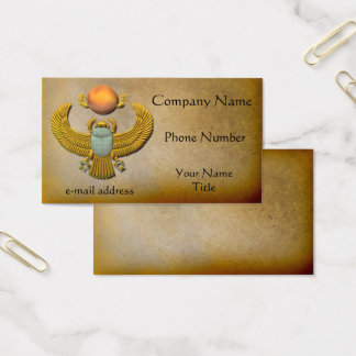 Egyptian Gold Scarab Business Card