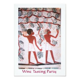 EGYPTIAN GRAPE VINEYARD  WINE TASTING PARTY 5X7 PAPER INVITATION CARD