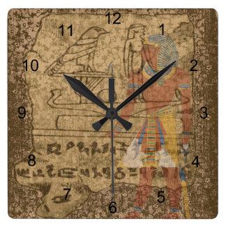 Egyptian Hieroglyphic Wall Clock