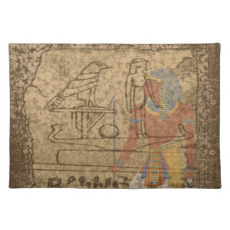 Egyptian Hieroglyphic Cloth Placemat
