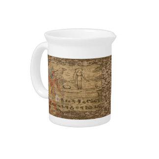 Egyptian Hieroglyphic Drink Pitchers