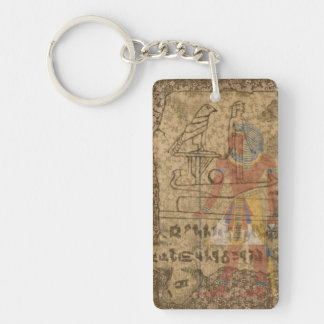 Egyptian Hieroglyphic Single-Sided Rectangular Acrylic Keychain